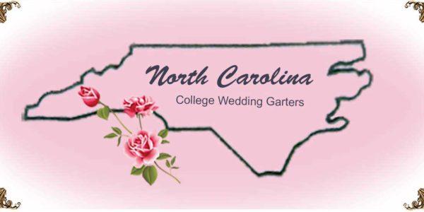 State-North-Carolina-College-Wedding-Garters