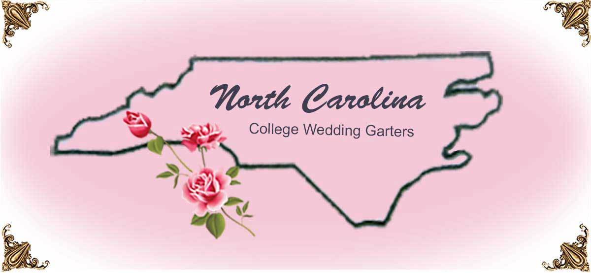 State-North-Carolina-College-Wedding-Garters