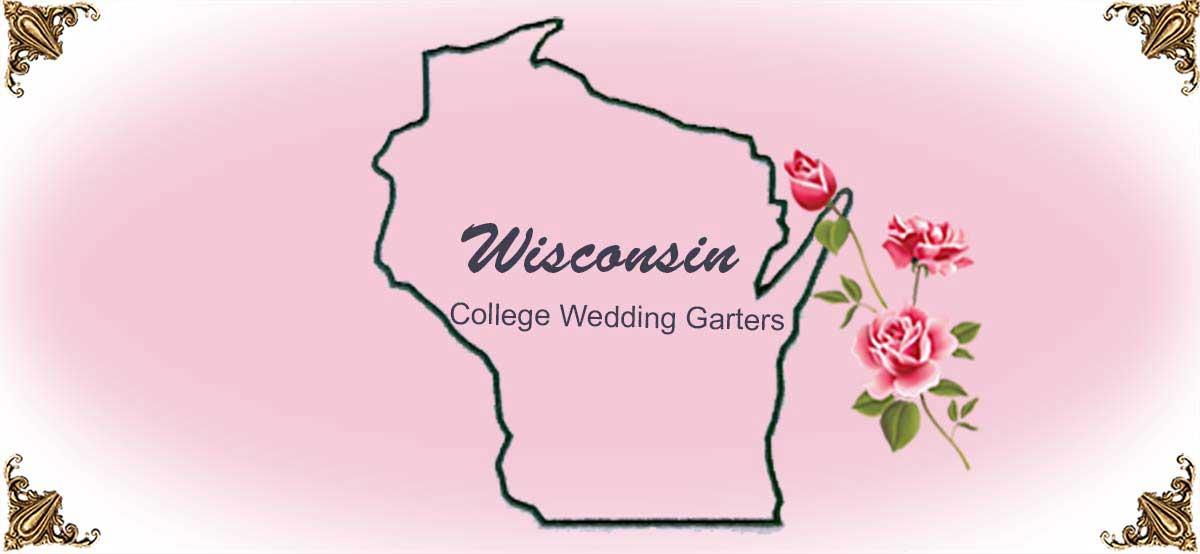 State-Wisconsin-College-Wedding-Garters