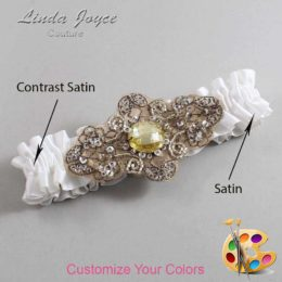 Couture Garters / Custom Wedding Garter / Customizable Wedding Garters / Personalized Wedding Garters / Bijou # 01-A01-Antique / Wedding Garters / Bridal Garter / Prom Garter / Linda Joyce Couture