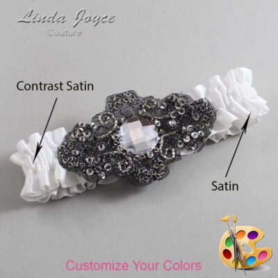 Couture Garters / Custom Wedding Garter / Customizable Wedding Garters / Personalized Wedding Garters / Bijou #01-A02-Black / Wedding Garters / Bridal Garter / Prom Garter / Bijou Joyce Couture