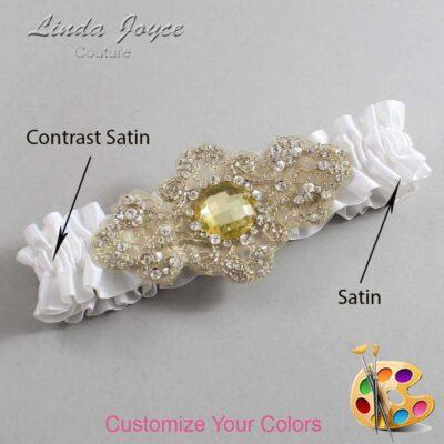 Couture Garters / Custom Wedding Garter / Customizable Wedding Garters / Personalized Wedding Garters / Bijou #01-A03-Gold / Wedding Garters / Bridal Garter / Prom Garter / Bijou Joyce Couture