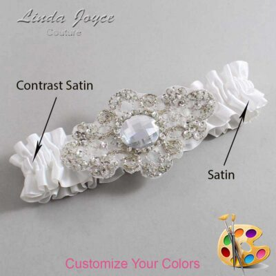 Couture Garters / Custom Wedding Garter / Customizable Wedding Garters / Personalized Wedding Garters / Bijou #01-A04-Silver / Wedding Garters / Bridal Garter / Prom Garter / Bijou Joyce Couture