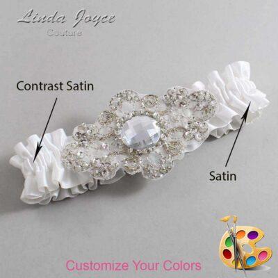 Couture Garters / Custom Wedding Garter / Customizable Wedding Garters / Personalized Wedding Garters / Bijou #01-A04-Silver / Wedding Garters / Bridal Garter / Prom Garter / Bijou Joyce Couture
