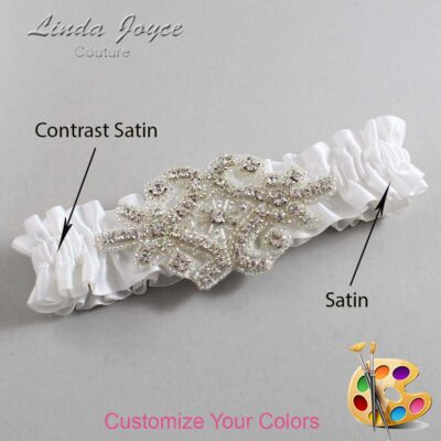 Couture Garters / Custom Wedding Garter / Customizable Wedding Garters / Personalized Wedding Garters / Heather #01-A07-Silver / Wedding Garters / Bridal Garter / Prom Garter / Heather Joyce Couture