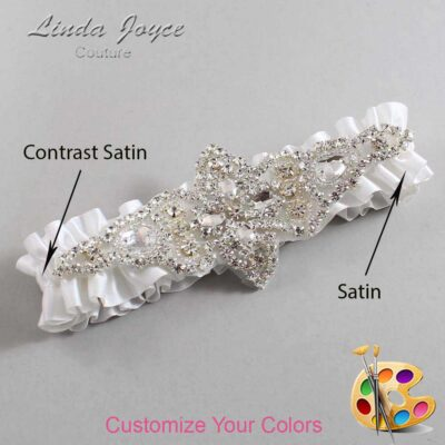 Couture Garters / Custom Wedding Garter / Customizable Wedding Garters / Personalized Wedding Garters / Lorine #01-A09-Silver / Wedding Garters / Bridal Garter / Prom Garter / Lorine Joyce Couture