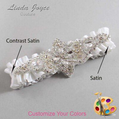 Couture Garters / Custom Wedding Garter / Customizable Wedding Garters / Personalized Wedding Garters / Lorine #01-A09-Silver / Wedding Garters / Bridal Garter / Prom Garter / Lorine Joyce Couture