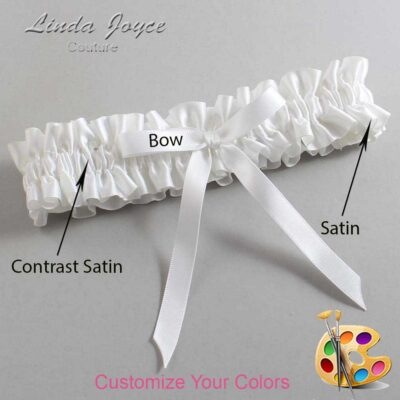 Couture Garters / Custom Wedding Garter / Customizable Wedding Garters / Personalized Wedding Garters / Alberta #01-B04-00 / Wedding Garters / Bridal Garter / Prom Garter / Linda Joyce Couture