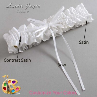 Couture Garters / Custom Wedding Garter / Customizable Wedding Garters / Personalized Wedding Garters / Madie #01-B10-00 / Wedding Garters / Bridal Garter / Prom Garter / Linda Joyce Couture