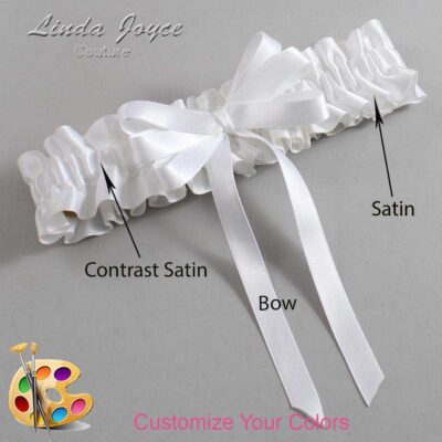 Couture Garters / Custom Wedding Garter / Customizable Wedding Garters / Personalized Wedding Garters / Sabrina #01-B12-00 / Wedding Garters / Bridal Garter / Prom Garter / Linda Joyce Couture