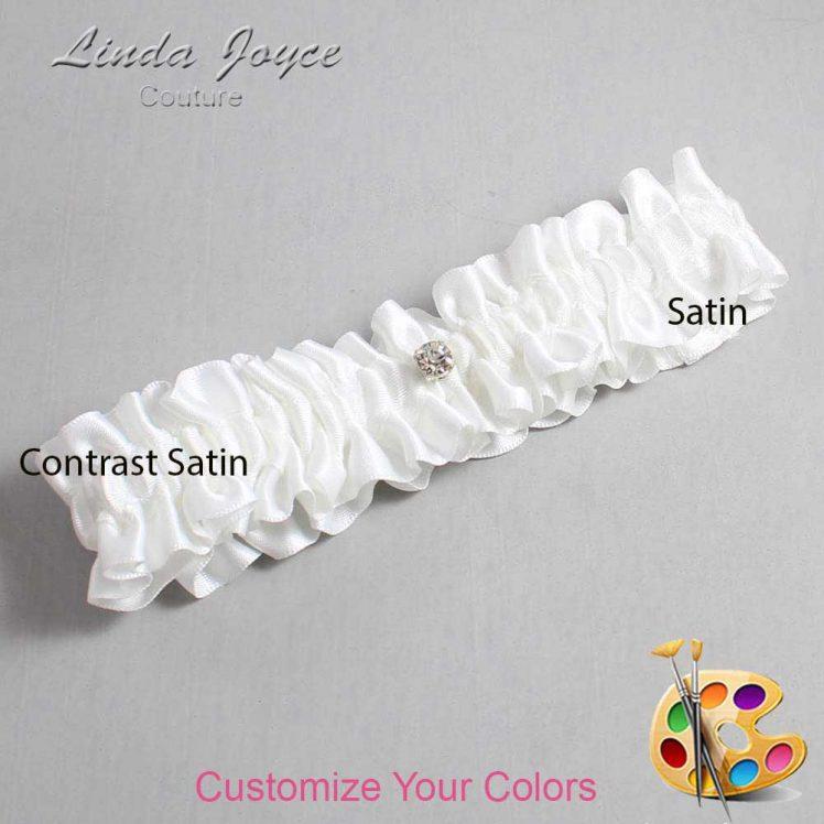 Couture Garters / Custom Wedding Garter / Customizable Wedding Garters / Personalized Wedding Garters / Solitaire #01-M04 / Wedding Garters / Bridal Garter / Prom Garter / Linda Joyce Couture