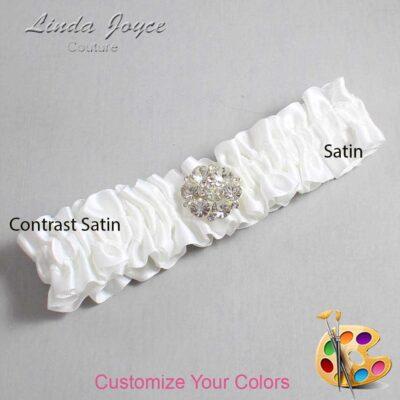 Couture Garters / Custom Wedding Garter / Customizable Wedding Garters / Personalized Wedding Garters / Belle #01-M11 / Wedding Garters / Bridal Garter / Prom Garter / Linda Joyce Couture