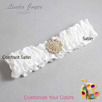 Couture Garters / Custom Wedding Garter / Customizable Wedding Garters / Personalized Wedding Garters / Lynnette #01-M12 / Wedding Garters / Bridal Garter / Prom Garter / Linda Joyce Couture