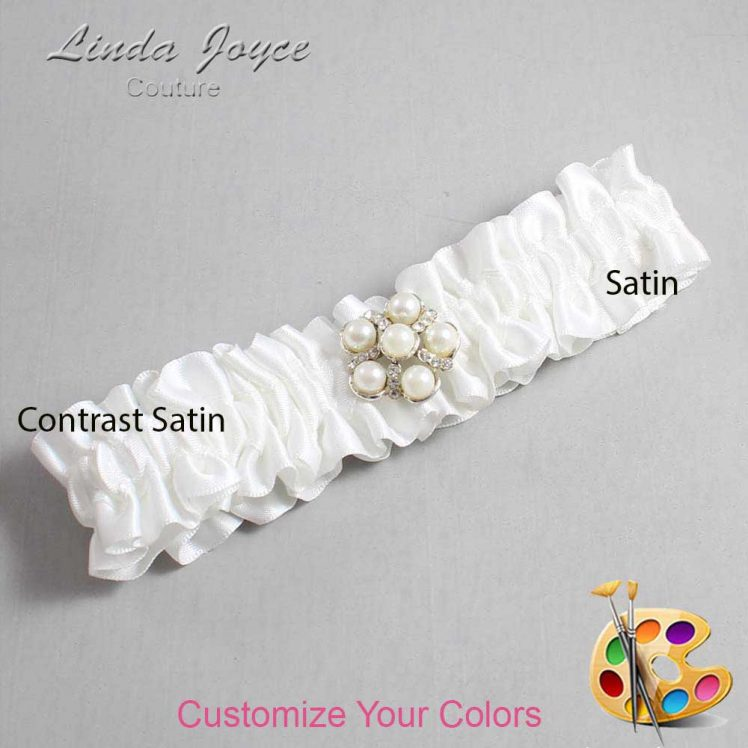 Couture Garters / Custom Wedding Garter / Customizable Wedding Garters / Personalized Wedding Garters / Liza #01-M13 / Wedding Garters / Bridal Garter / Prom Garter / Linda Joyce Couture