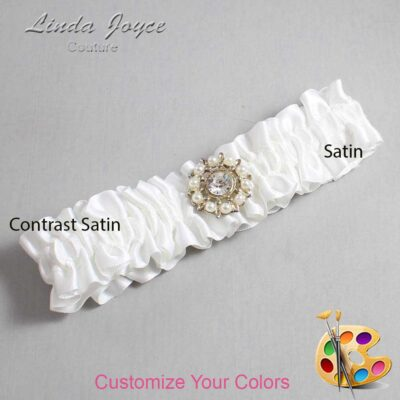 Couture Garters / Custom Wedding Garter / Customizable Wedding Garters / Personalized Wedding Garters / Phyllis #01-M14 / Wedding Garters / Bridal Garter / Prom Garter / Linda Joyce Couture