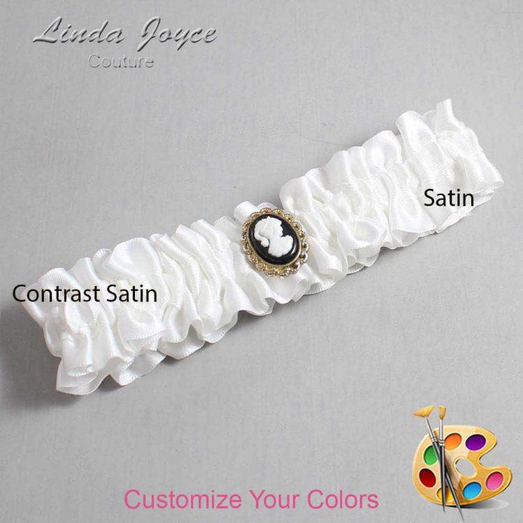 Couture Garters / Custom Wedding Garter / Customizable Wedding Garters / Personalized Wedding Garters / Cally #01-M15 / Wedding Garters / Bridal Garter / Prom Garter / Linda Joyce Couture