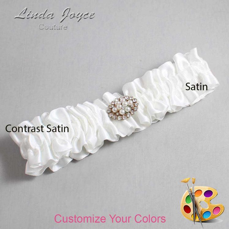 Couture Garters / Custom Wedding Garter / Customizable Wedding Garters / Personalized Wedding Garters / Fay #01-M16 / Wedding Garters / Bridal Garter / Prom Garter / Linda Joyce Couture