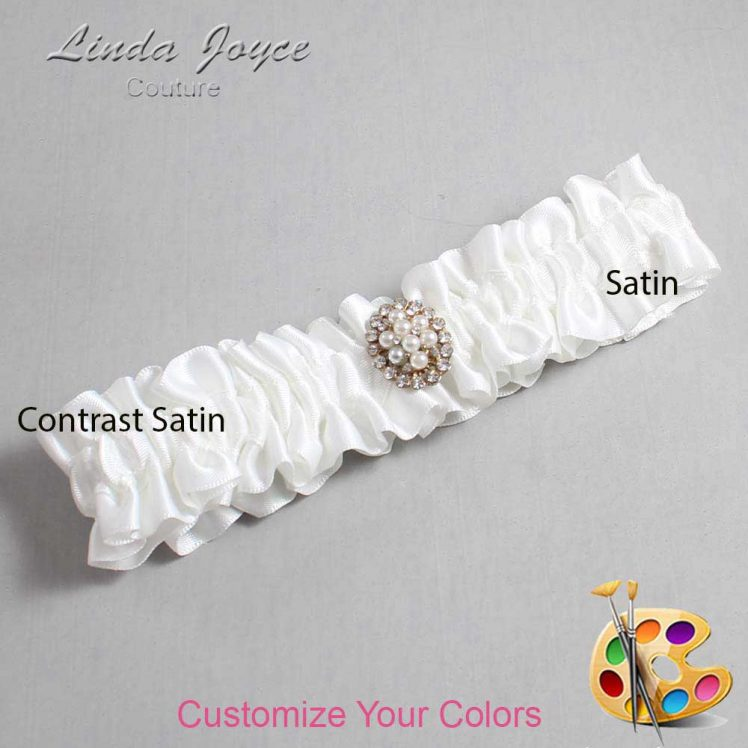 Couture Garters / Custom Wedding Garter / Customizable Wedding Garters / Personalized Wedding Garters / Leigh #01-M17 / Wedding Garters / Bridal Garter / Prom Garter / Linda Joyce Couture