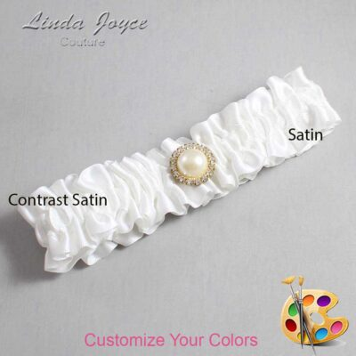 Couture Garters / Custom Wedding Garter / Customizable Wedding Garters / Personalized Wedding Garters / Dana #01-M21 / Wedding Garters / Bridal Garter / Prom Garter / Linda Joyce Couture