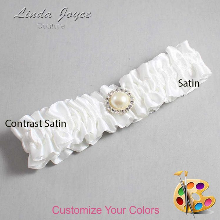 Couture Garters / Custom Wedding Garter / Customizable Wedding Garters / Personalized Wedding Garters / Dana #01-M22 / Wedding Garters / Bridal Garter / Prom Garter / Linda Joyce Couture