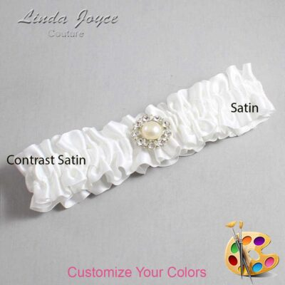 Couture Garters / Custom Wedding Garter / Customizable Wedding Garters / Personalized Wedding Garters / Lynn #01-M24 / Wedding Garters / Bridal Garter / Prom Garter / Linda Joyce Couture