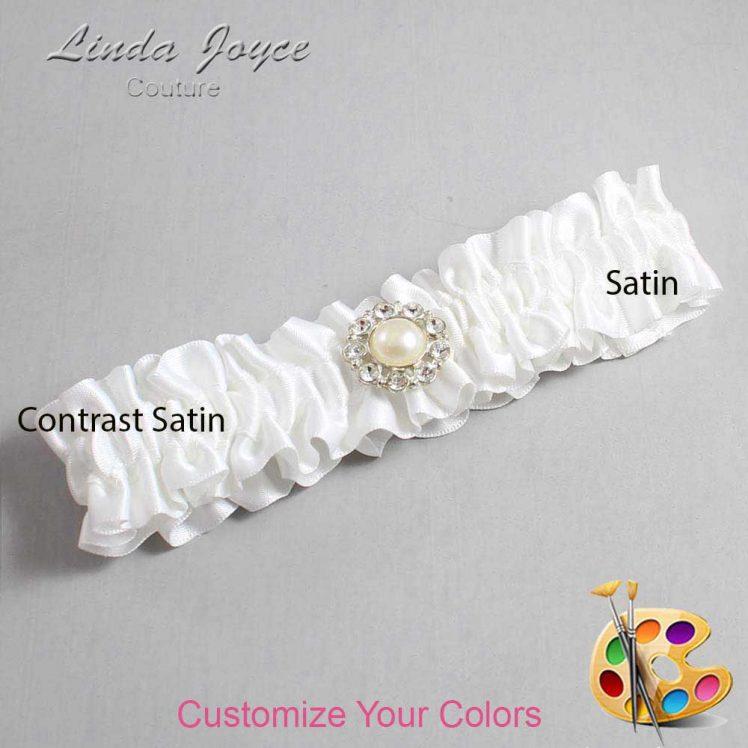 Couture Garters / Custom Wedding Garter / Customizable Wedding Garters / Personalized Wedding Garters / Lynn #01-M24 / Wedding Garters / Bridal Garter / Prom Garter / Linda Joyce Couture
