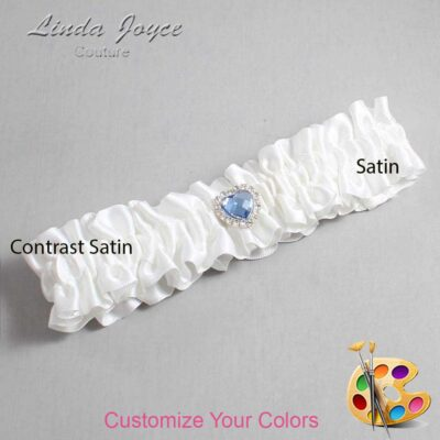 Couture Garters / Custom Wedding Garter / Customizable Wedding Garters / Personalized Wedding Garters / Lovie #01-M25 / Wedding Garters / Bridal Garter / Prom Garter / Linda Joyce Couture