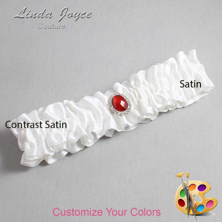 Couture Garters / Custom Wedding Garter / Customizable Wedding Garters / Personalized Wedding Garters / Jewels #01-M26 / Wedding Garters / Bridal Garter / Prom Garter / Linda Joyce Couture
