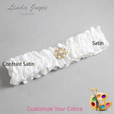 Couture Garters / Custom Wedding Garter / Customizable Wedding Garters / Personalized Wedding Garters / Elaine #01-M27 / Wedding Garters / Bridal Garter / Prom Garter / Linda Joyce Couture