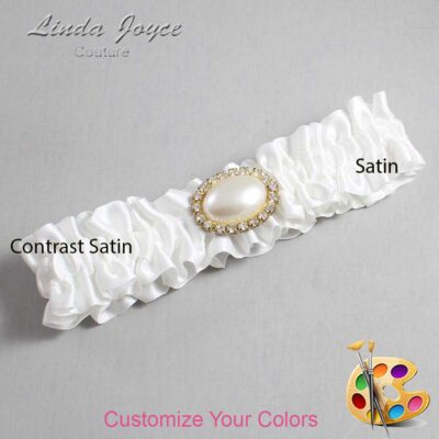 Couture Garters / Custom Wedding Garter / Customizable Wedding Garters / Personalized Wedding Garters / Jane #01-M28 / Wedding Garters / Bridal Garter / Prom Garter / Linda Joyce Couture