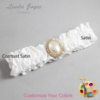 Couture Garters / Custom Wedding Garter / Customizable Wedding Garters / Personalized Wedding Garters / Halle #01-M29 / Wedding Garters / Bridal Garter / Prom Garter / Linda Joyce Couture