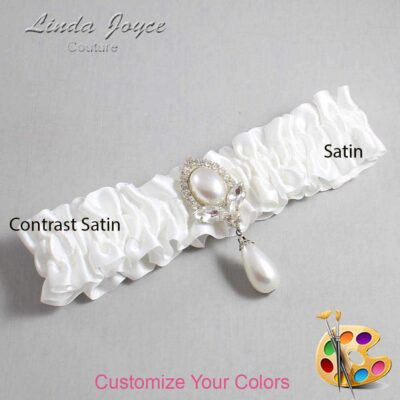 Couture Garters / Custom Wedding Garter / Customizable Wedding Garters / Personalized Wedding Garters / Grace #01-M32 / Wedding Garters / Bridal Garter / Prom Garter / Linda Joyce Couture