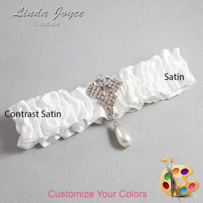 Couture Garters / Custom Wedding Garter / Customizable Wedding Garters / Personalized Wedding Garters / Lauren #01-M33 / Wedding Garters / Bridal Garter / Prom Garter / Linda Joyce Couture