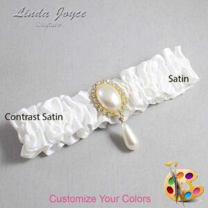 Couture Garters / Custom Wedding Garter / Customizable Wedding Garters / Personalized Wedding Garters / Cora #01-M34 / Wedding Garters / Bridal Garter / Prom Garter / Linda Joyce Couture