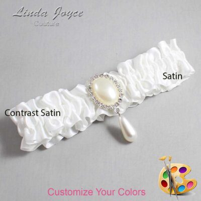 Customizable Wedding Garter / Cora #01-M35