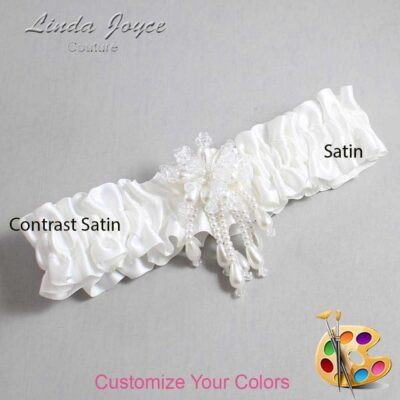 Couture Garters / Custom Wedding Garter / Customizable Wedding Garters / Personalized Wedding Garters / Folly #01-M38 / Wedding Garters / Bridal Garter / Prom Garter / Linda Joyce Couture