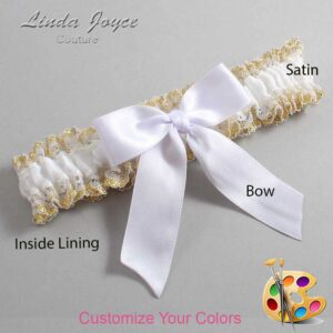 Couture Garters / Custom Wedding Garter / Customizable Wedding Garters / Personalized Wedding Garters / Melva #04-B02-00 / Wedding Garters / Bridal Garter / Prom Garter / Linda Joyce Couture