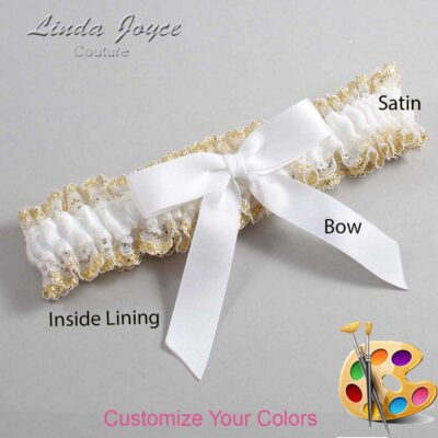 Couture Garters / Custom Wedding Garter / Customizable Wedding Garters / Personalized Wedding Garters / Paulette #04-B03-00 / Wedding Garters / Bridal Garter / Prom Garter / Linda Joyce Couture