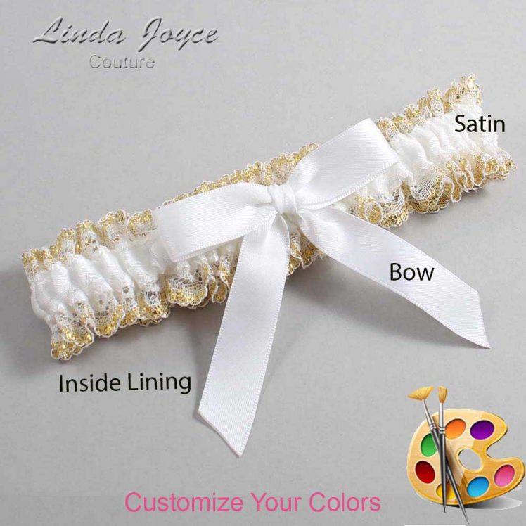 Couture Garters / Custom Wedding Garter / Customizable Wedding Garters / Personalized Wedding Garters / Paulette #04-B03-00 / Wedding Garters / Bridal Garter / Prom Garter / Linda Joyce Couture