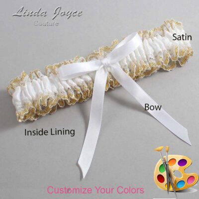 Couture Garters / Custom Wedding Garter / Customizable Wedding Garters / Personalized Wedding Garters / Alberta #04-B04-00 / Wedding Garters / Bridal Garter / Prom Garter / Linda Joyce Couture
