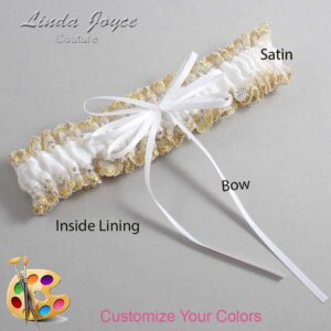 Couture Garters / Custom Wedding Garter / Customizable Wedding Garters / Personalized Wedding Garters / Madie #04-B10-00 / Wedding Garters / Bridal Garter / Prom Garter / Linda Joyce Couture