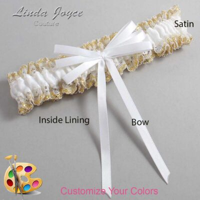 Couture Garters / Custom Wedding Garter / Customizable Wedding Garters / Personalized Wedding Garters / Avis #04-B11-00 / Wedding Garters / Bridal Garter / Prom Garter / Linda Joyce Couture