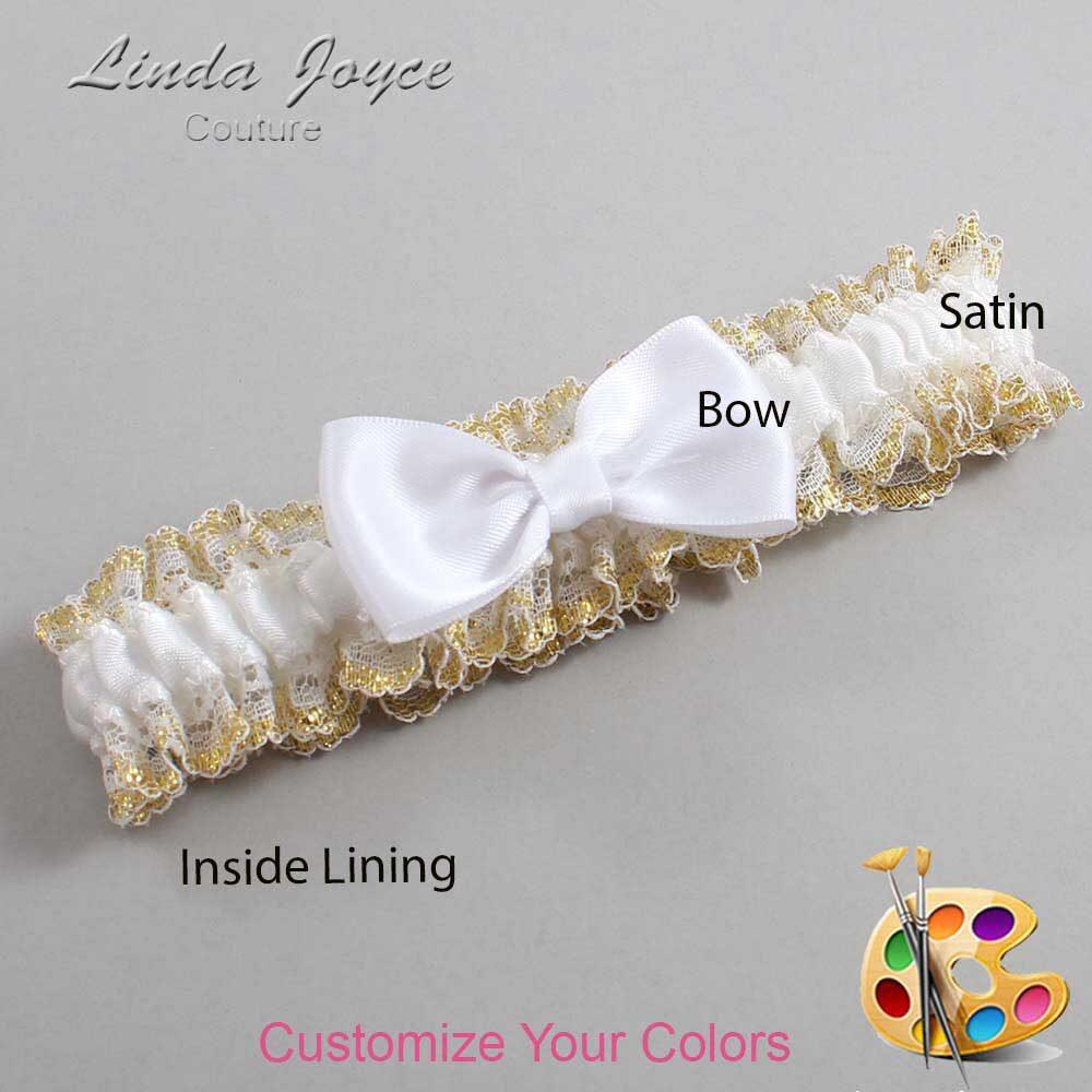 Customizable Wedding Garter / Justine #04-B29-00