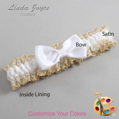 Couture Garters / Custom Wedding Garter / Customizable Wedding Garters / Personalized Wedding Garters / Justine #04-B29-00 / Wedding Garters / Bridal Garter / Prom Garter / Linda Joyce Couture