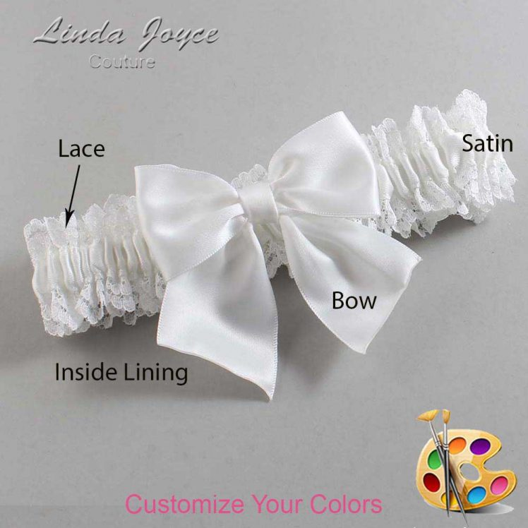 Couture Garters / Custom Wedding Garter / Customizable Wedding Garters / Personalized Wedding Garters / Kimberly #06-B01-00 / Wedding Garters / Bridal Garter / Prom Garter / Linda Joyce Couture