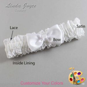 Couture Garters / Custom Wedding Garter / Customizable Wedding Garters / Personalized Wedding Garters / Justine #06-B29-00 / Wedding Garters / Bridal Garter / Prom Garter / Linda Joyce Couture