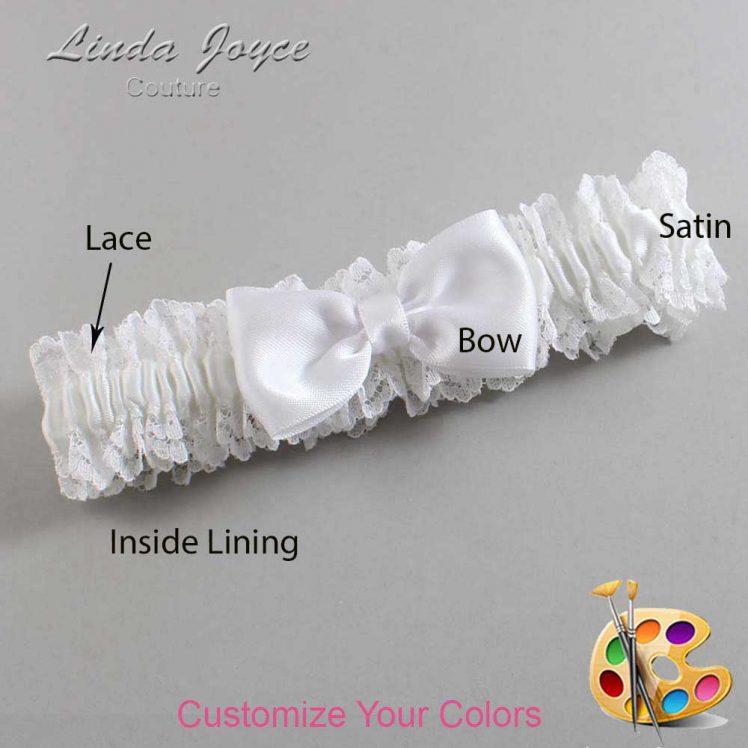 Couture Garters / Custom Wedding Garter / Customizable Wedding Garters / Personalized Wedding Garters / Justine #06-B29-00 / Wedding Garters / Bridal Garter / Prom Garter / Linda Joyce Couture