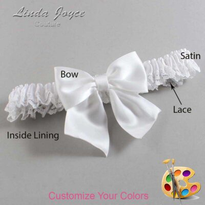 Couture Garters / Custom Wedding Garter / Customizable Wedding Garters / Personalized Wedding Garters / Kimberly #09-B01-00 / Wedding Garters / Bridal Garter / Prom Garter / Linda Joyce Couture