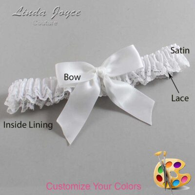 Couture Garters / Custom Wedding Garter / Customizable Wedding Garters / Personalized Wedding Garters / Melva #09-B02-00 / Wedding Garters / Bridal Garter / Prom Garter / Linda Joyce Couture
