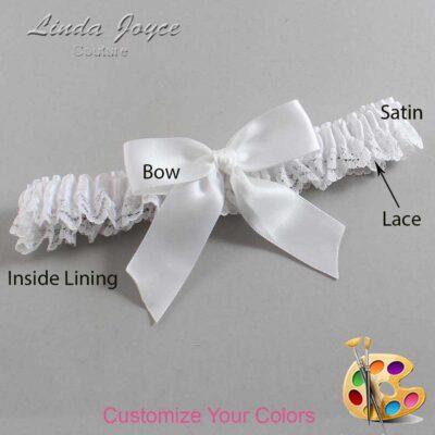 Customizable Wedding Garter / Melva #09-B02-00